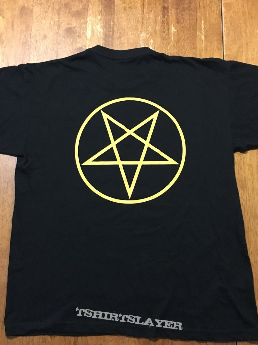 Bathory Yellow Goat T-Shirt Euronymous Print Reprint