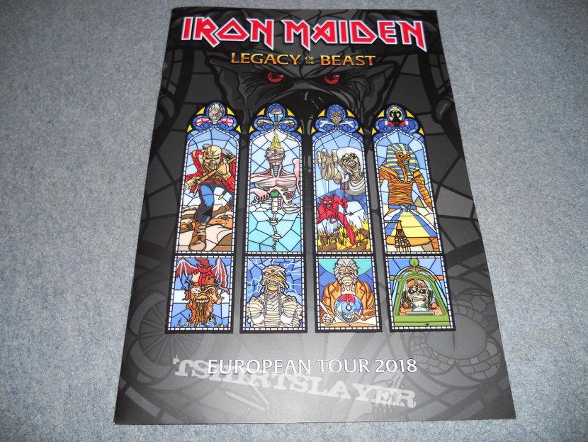 Iron Maiden, Legacy Of The Beast euro tour program 2018