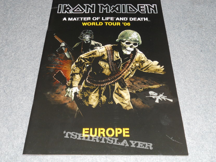 Iron Maiden, A Matter Of Life And Death euro tour program