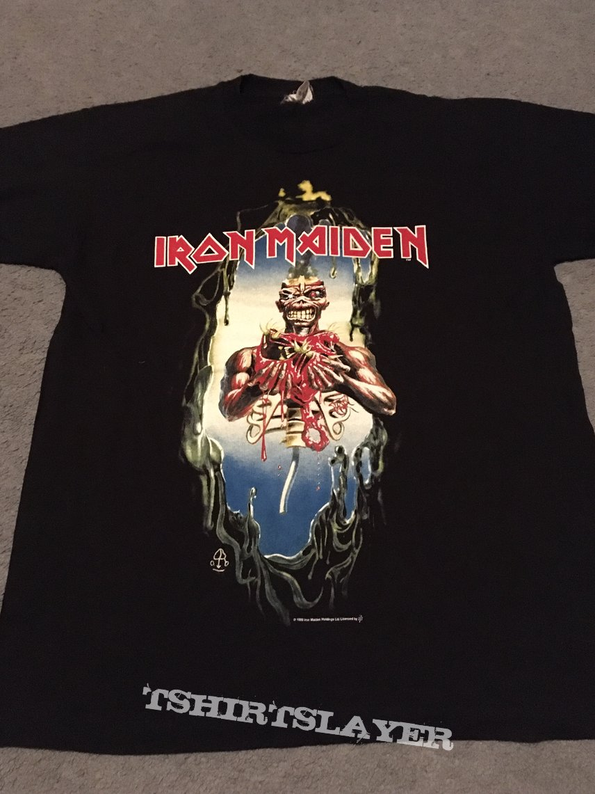 Iron Maiden Seventh Son monster baby t-shirt original 1988