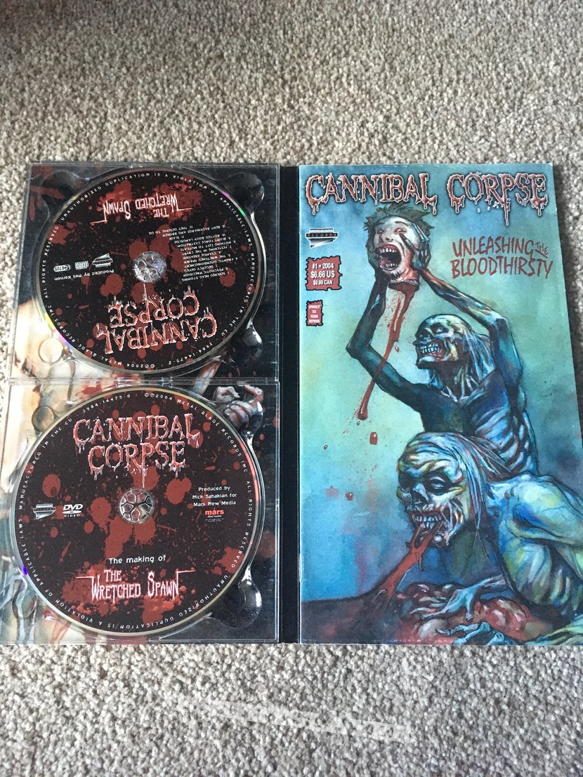 Cannibal Corpse  The Wretched Spawn limited cd with comic booklet.