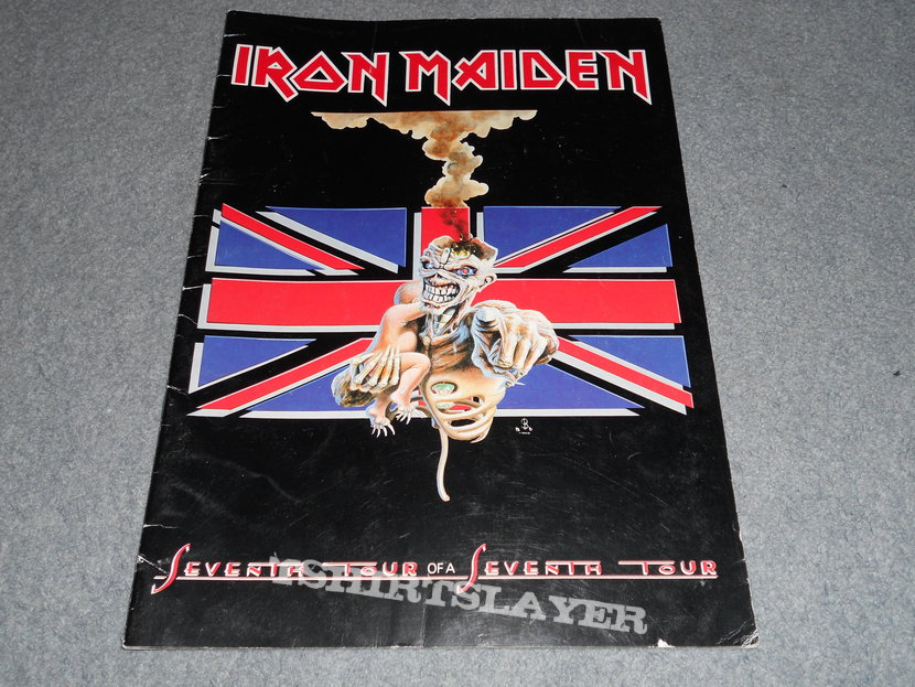 Iron Maiden, Seventh tour euro program and merch sheet.