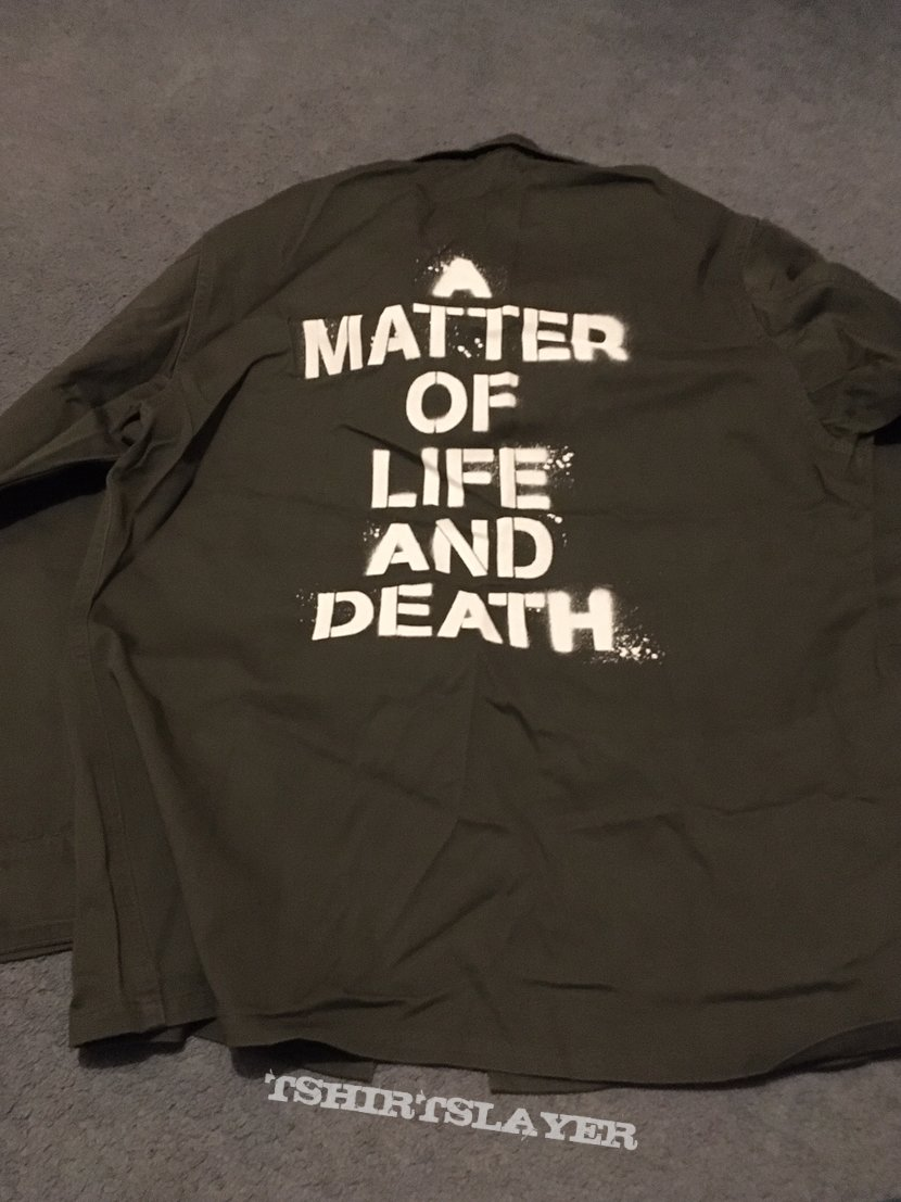 Iron Maiden A Matter Of Life And Death army jacket