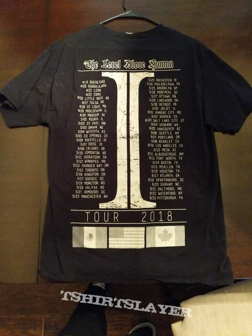 Invested - The Level Above Human tour tee