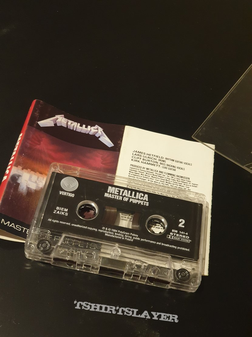 Metallica - Master of Puppets tape