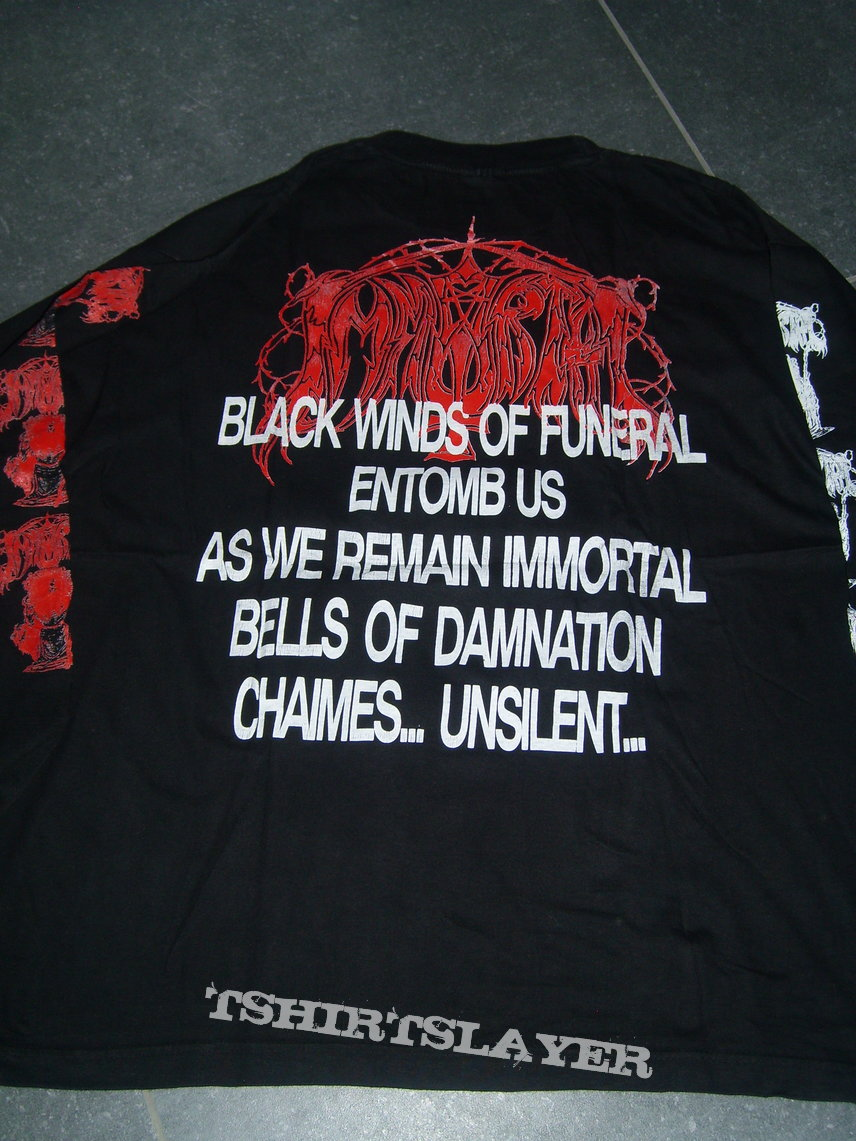 """Immortal """" Diabolical Fullmoon..."""" 1992 osmose longsleeve"""