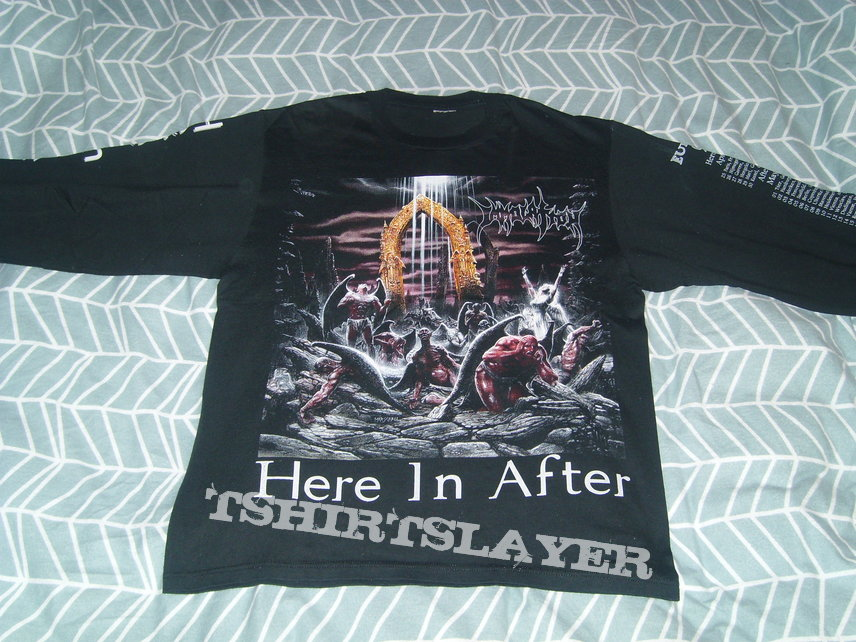 IMMOLATION Here In After 1996 Euro Tour Shirt LS