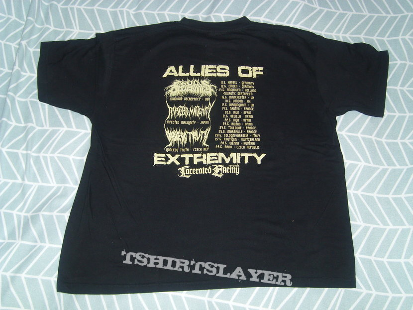 INFECTED MALIGNITY Allies Of Extremity tour shirt