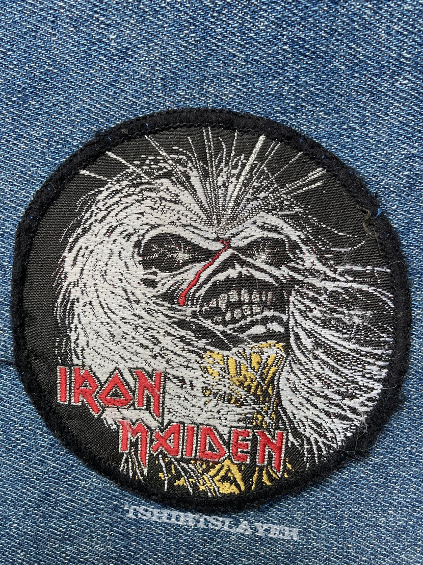 Iron Maiden Live After Death circle patch