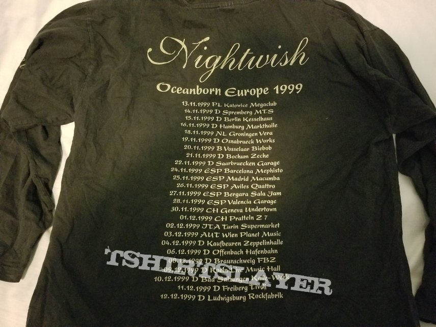 Nightwish - Oceanborn Europe 1999 tour shirt (long-sleeve)