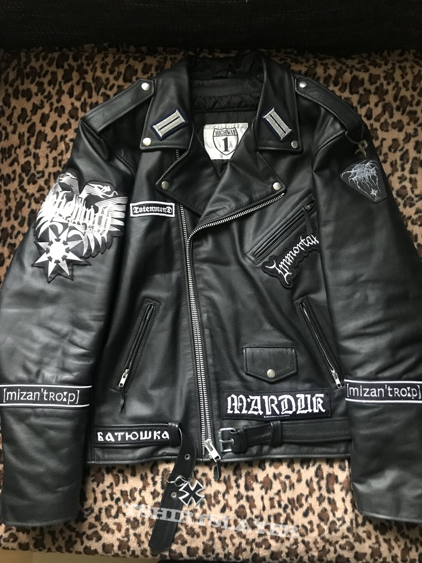 Classic Leather Jacket 13 Patches