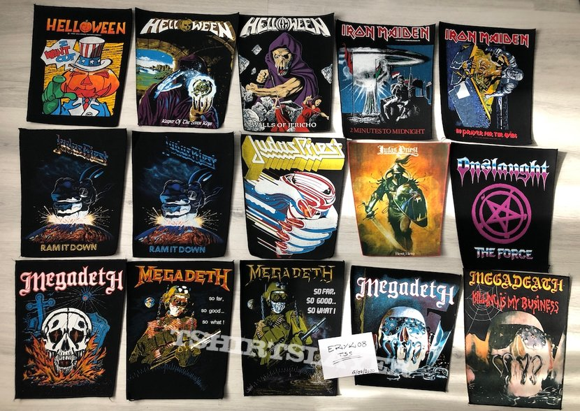 Backpatches for You!  \m/ 80's 90's patches