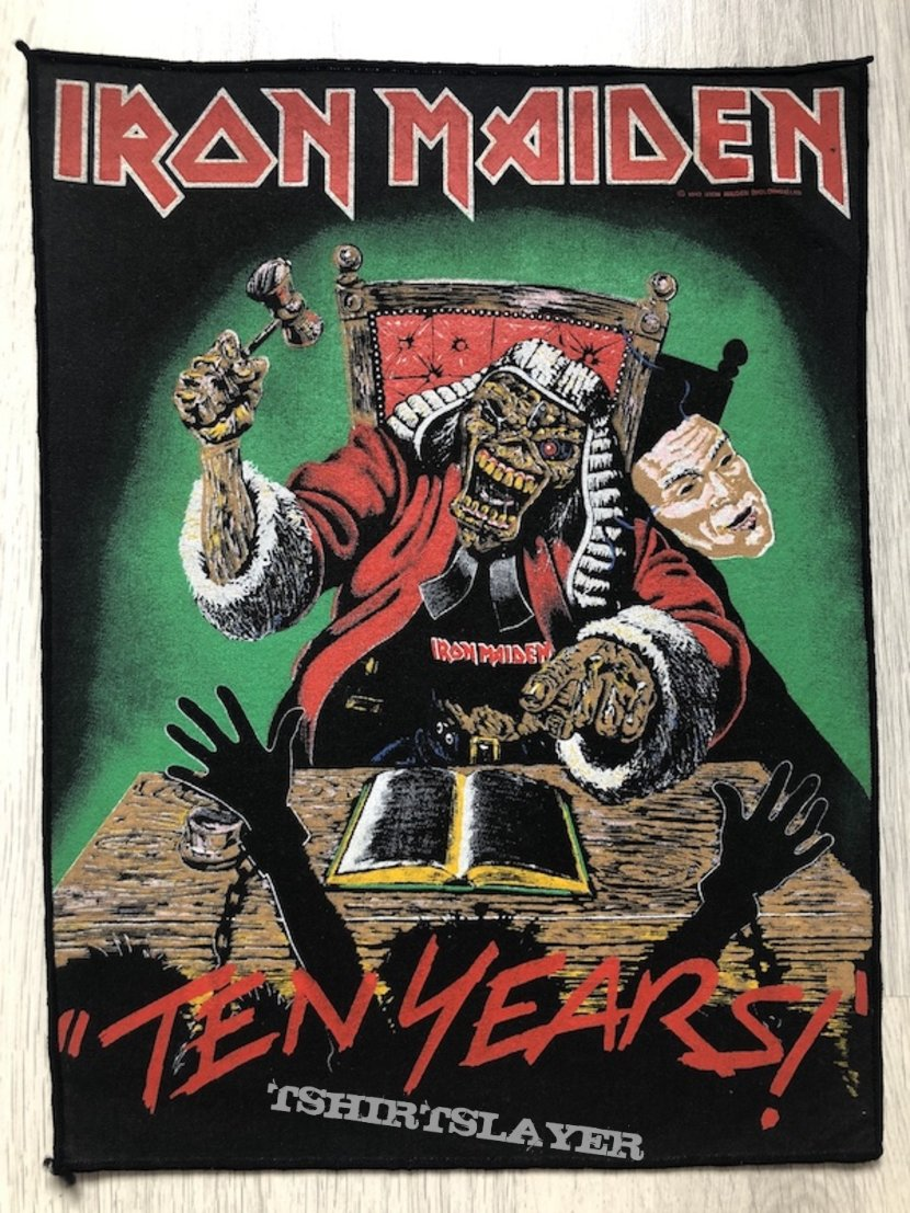 Iron Maiden / Ten Years - 1990 IM Holdings LTD Backpatch