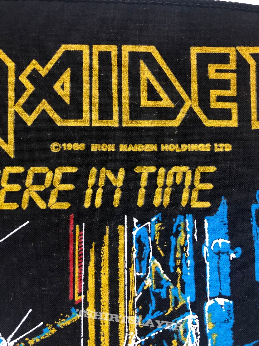 Iron Maiden / Somewhere in Time - 1986 IM Holdings LTD Backpatch