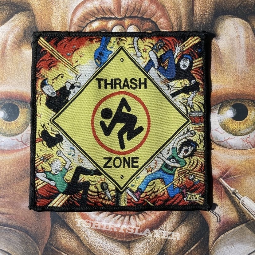 D.R.I - Thrash Zone woven patch