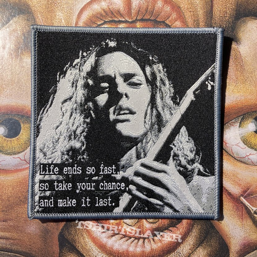 Chuck Schuldiner woven tribute patch by Blood Like Rain