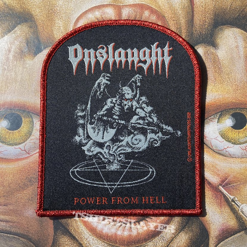 Onslaught - Power From Hell official woven patch by DarkProds