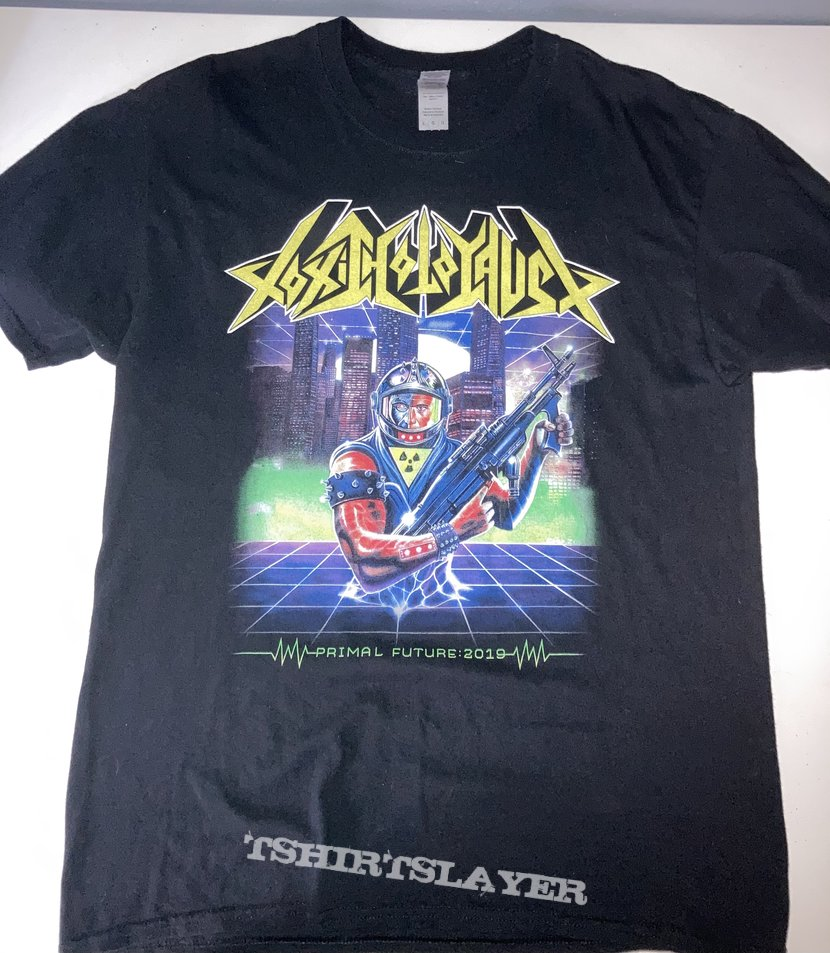 Toxic Holocaust - Primal Future: 2019 shirt signed by Joel Grind