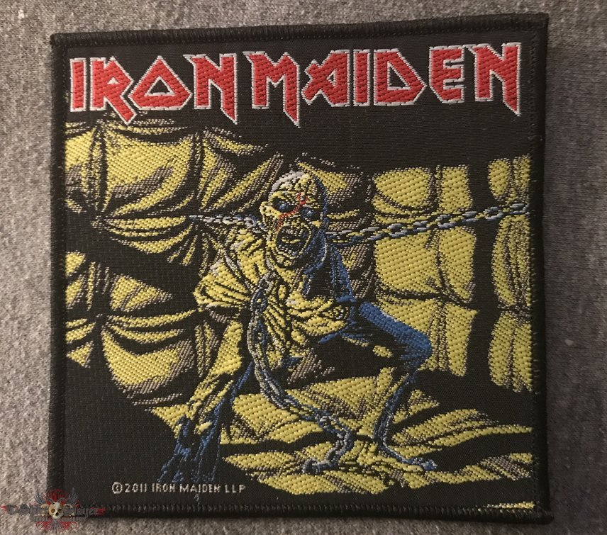 "IRON MAIDEN 4/"" X 4/"" PEACE OF MIND PATCH 10CM X 10CM"