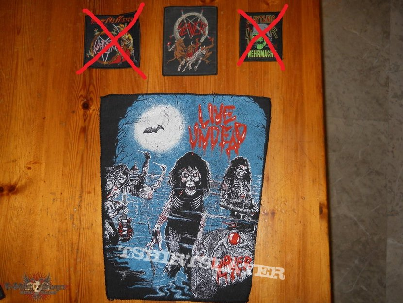 SLAYER old school patches+backpatch