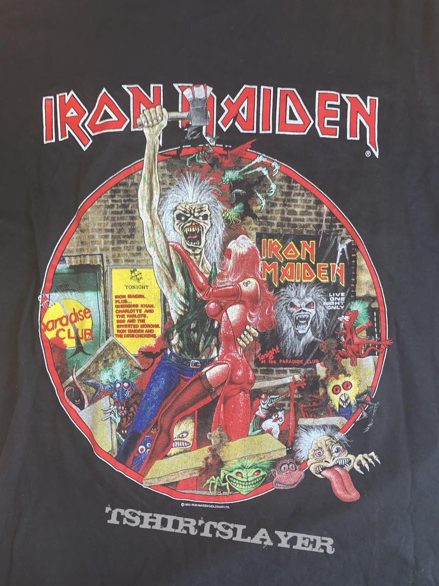 Iron Maiden 1990 bring your daughter to the slaughter shirt Large
