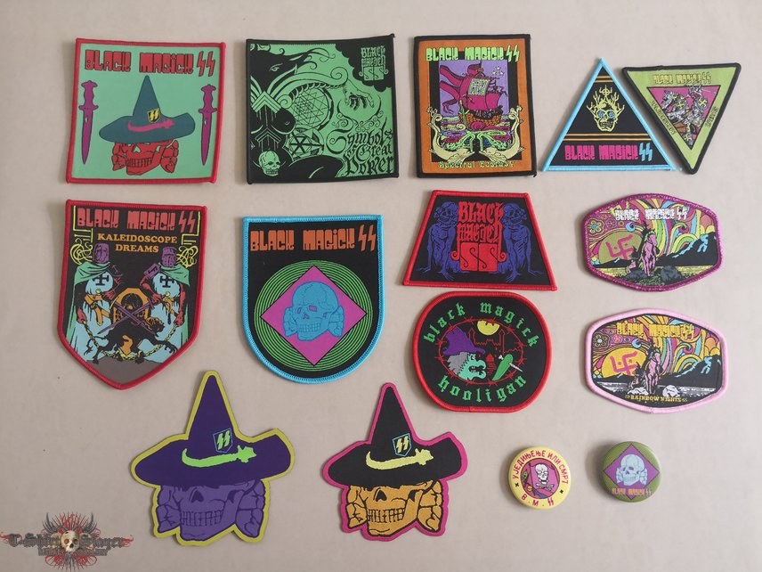 Black Magick SS Woven Patches & Pins