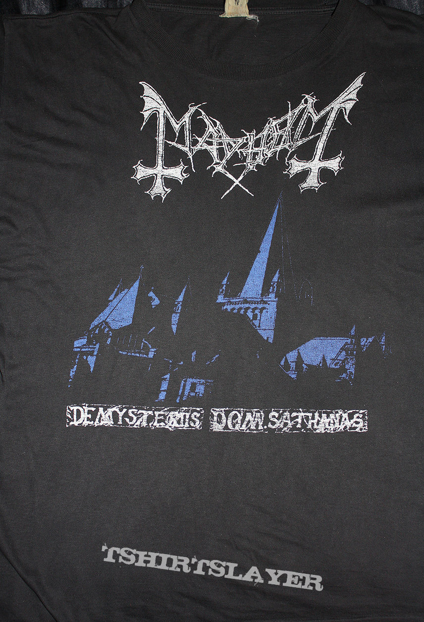 MAYHEM - De Mysteriies Dom Sathanas - Official Shirt from 1993 (Size M)