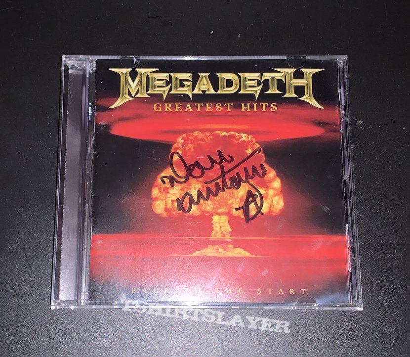 Dave Mustaine Signed MegadetH CD