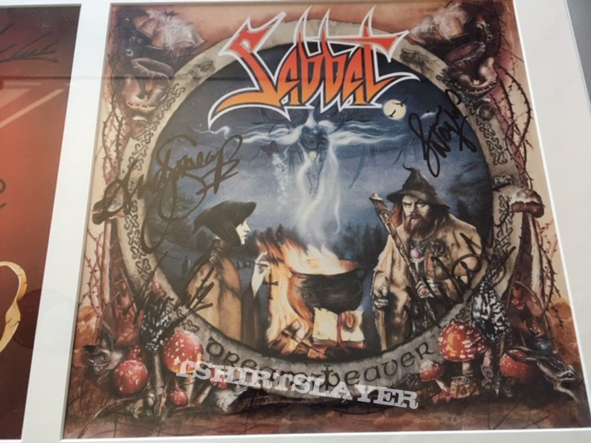 Sabbat - signed vinyl 'History Of A Time To Come' + 'Dreamweaver'