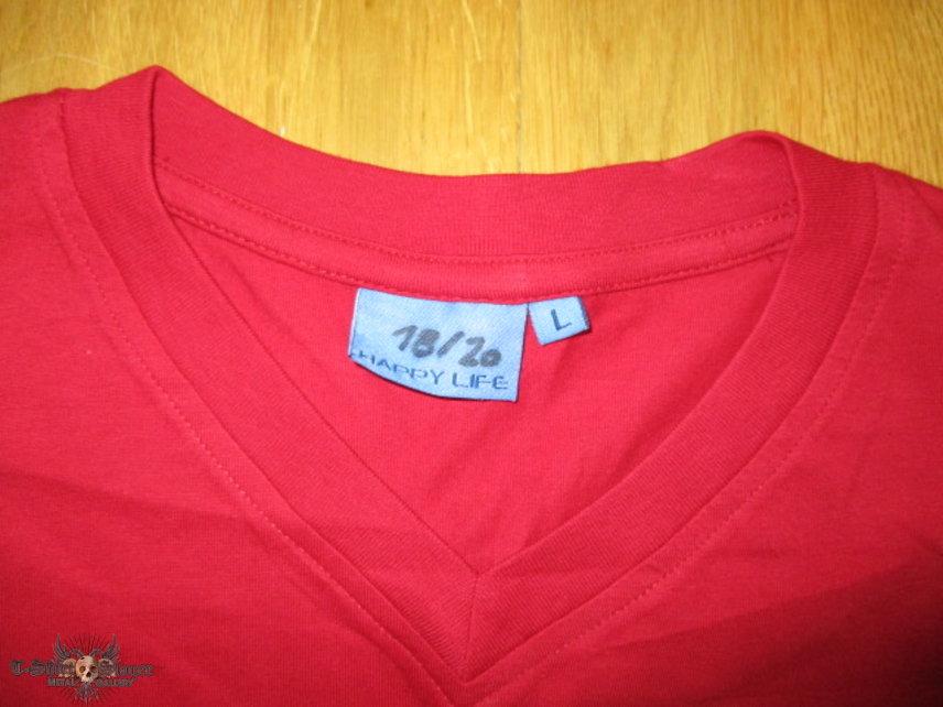 Elisabetha 'Vincent Price' t-shirt, #16/20, red short sleeve