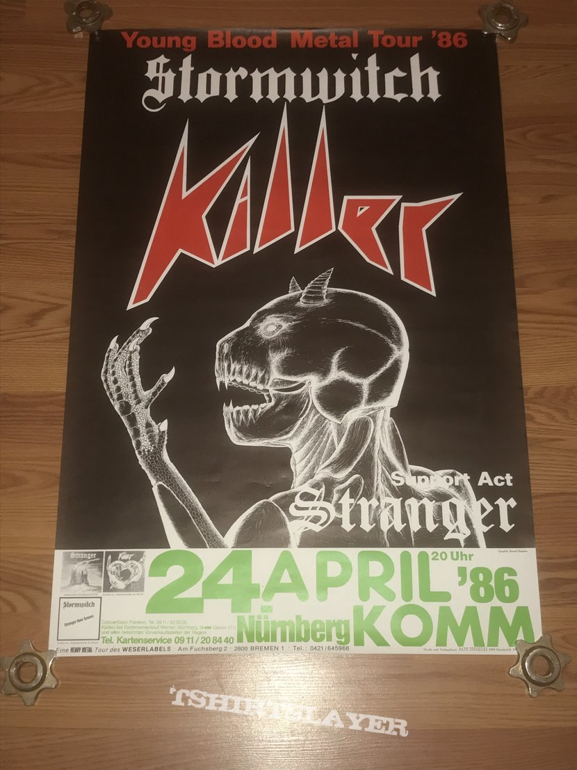 Stormwitch / Killer / Stranger - Young Blood Metal Tour '86 - Poster