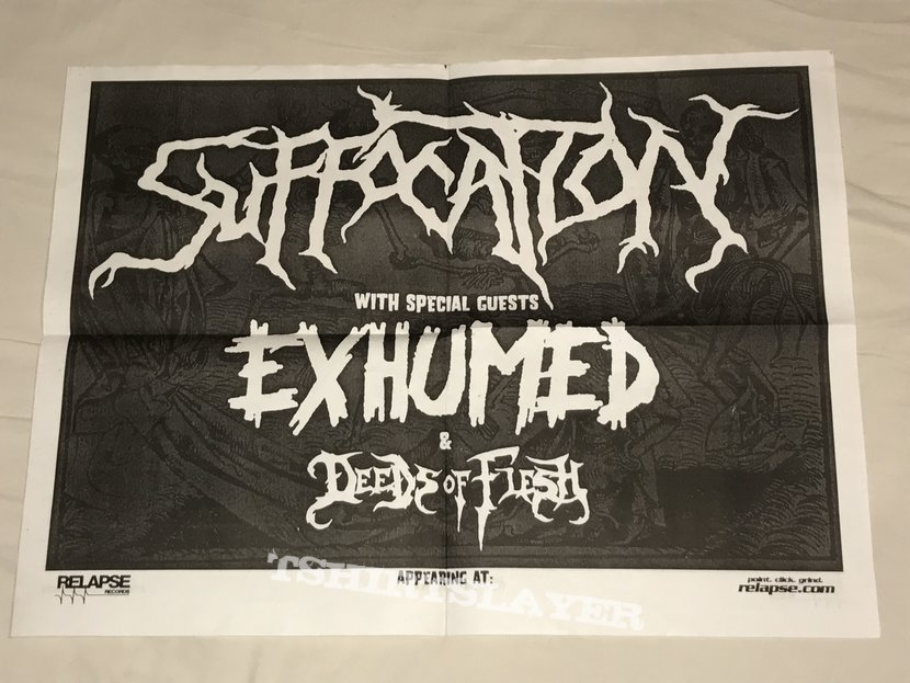 Suffocation / Exhumed / Deeds Of Flesh - 2005 Tour Poster