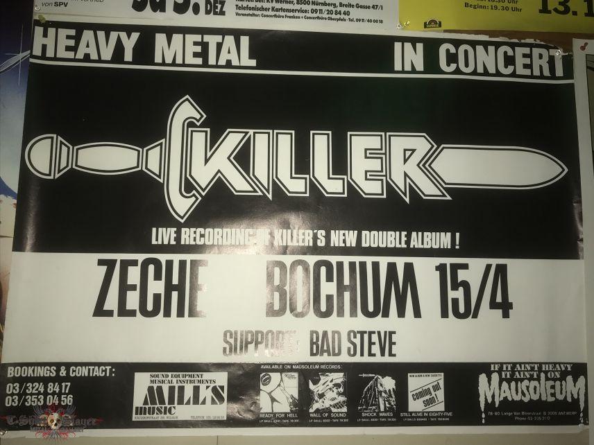 Killer / Bad Steve - Heavy Metal Concert 1985 - Poster