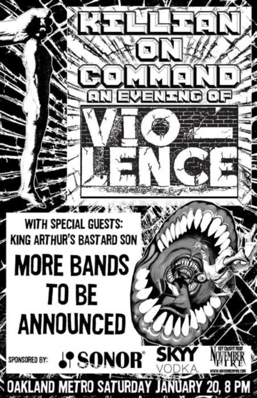 Killian On Command: An Evening of Vio-Lence - SF Bay Area Benefit For Sean Killian - 1/20/18 - The Midway - San Francisco, California - PART 1
