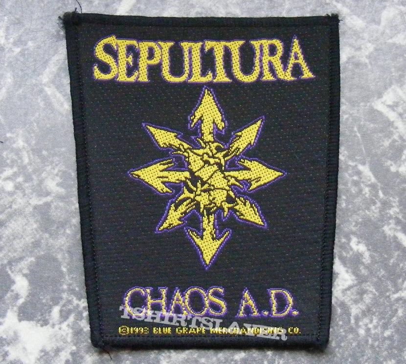 Sepultura Chaos Ad Chaos Symbol Patch Tshirtslayer Tshirt
