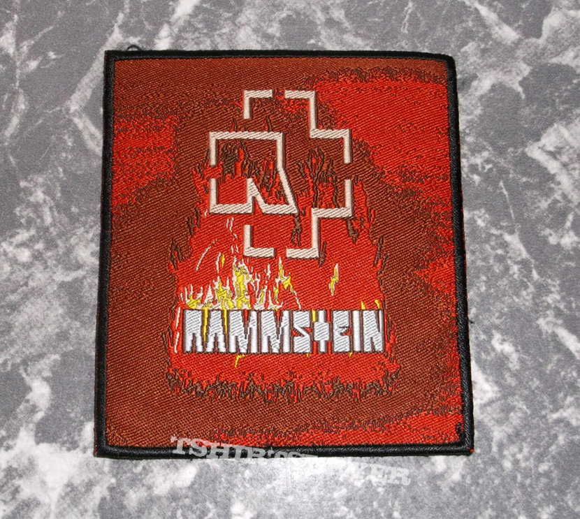 RAMMSTEIN - Burning Logo - Woven Patch