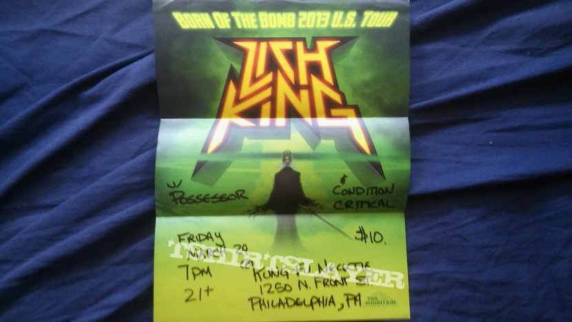Lich King tour/gig poster