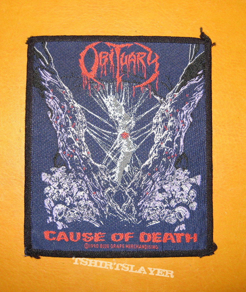 OBITUARY Cause Of Death original woven patch