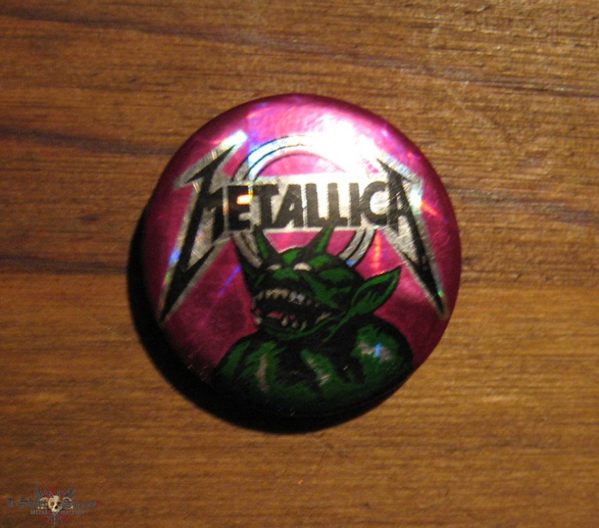 METALLICA Jump In The Fire vintage prismatic button *GONE*