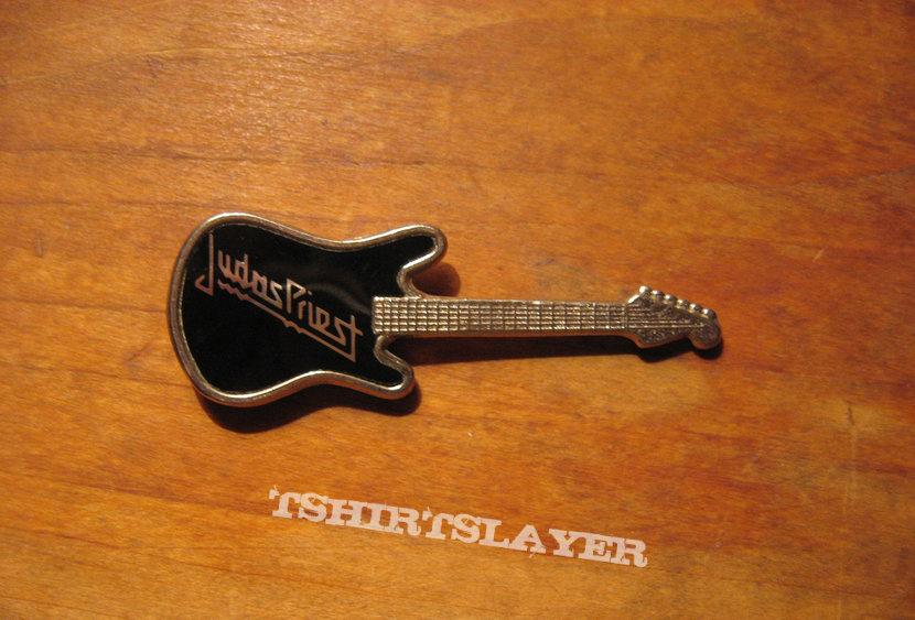 JUDAS PRIEST logo vintage guitar pin