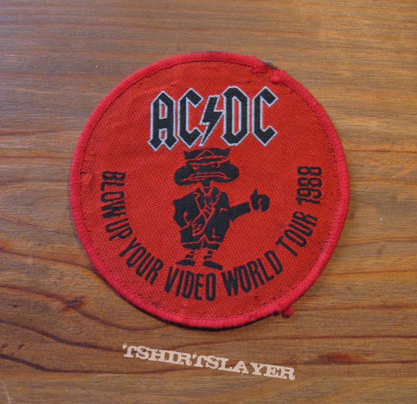 AC/DC Blow Up Your Video World Tour 1988 vintage woven patch