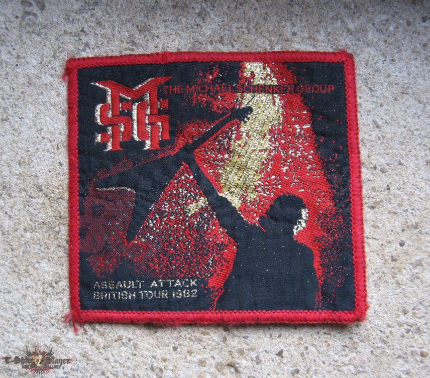 MSG Assault Attack British Tour 1982 original woven patch