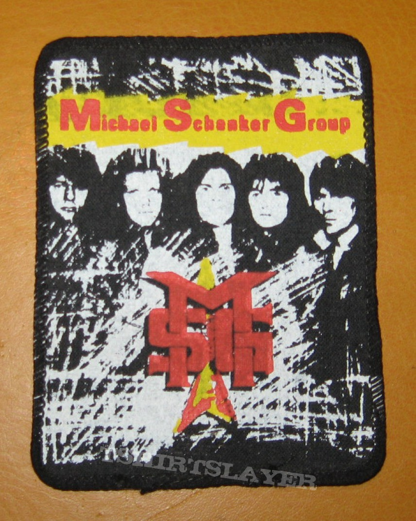 """Michael Schenker Group """"MSG"""" vintage printed patch"""
