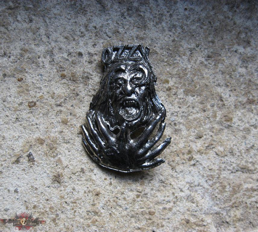 OZZY OSBOURNE Bark At The Moon vintage cast pewter brooch