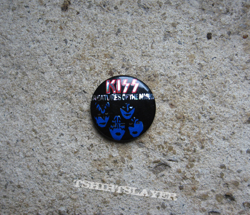 KISS Creatures Of The Night vintage prismatic button