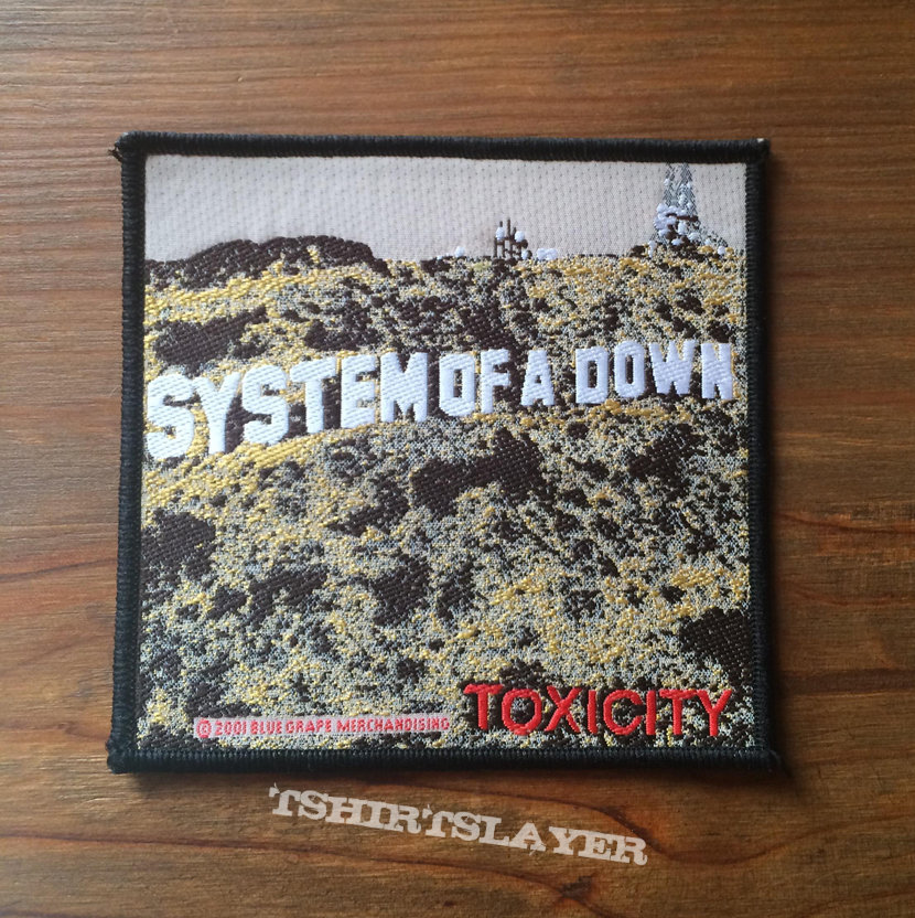 SYSTEM OF A DOWN Toxicity original woven patch