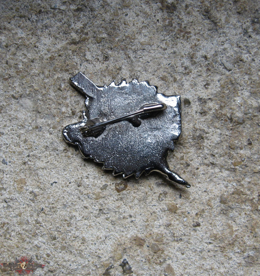 W.A.S.P. buzzsaw vintage cast pewter brooch