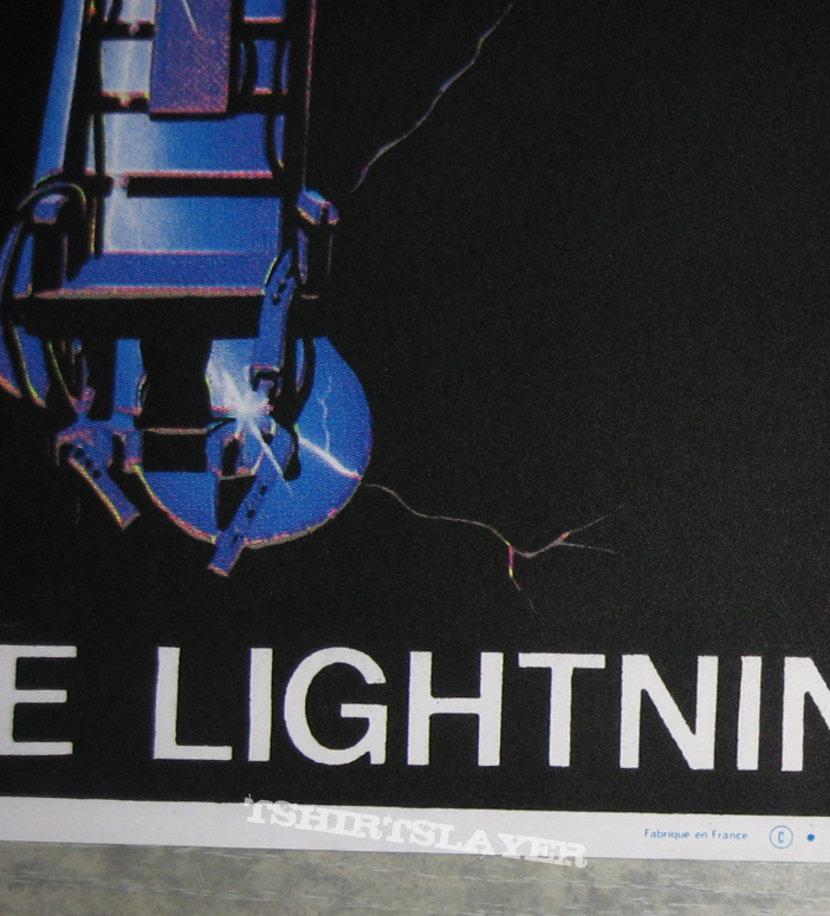 METALLICA Ride The Lightning original black light velvet poster
