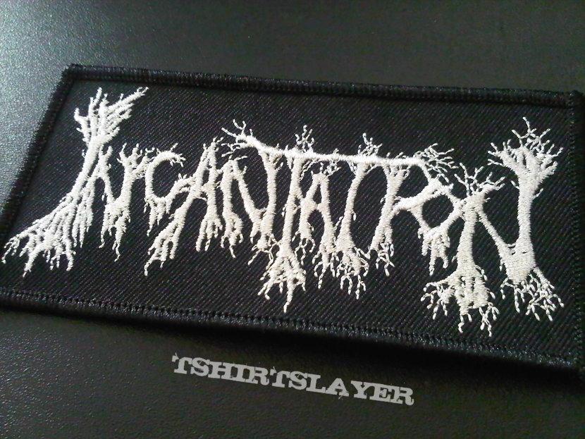 Incantation silver logo patch