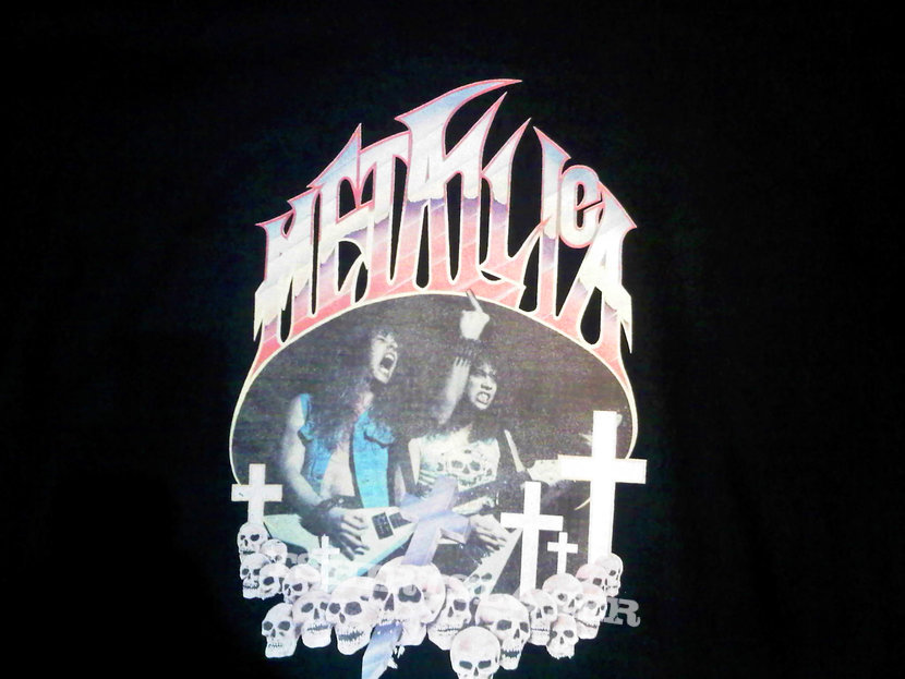metallica sweater made from vintage transfer